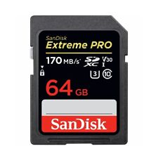 SanDisk Extreme Pro 64GB Class 10 SDXC UHS-I Memory Card - (SDSDXXY-064G-GN4IN)