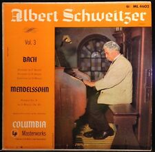 Albert Schweitzer - Bach - Mendelssohn -  Volume 3 - EX Vinyl LP - 180 gram