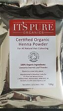 Its Pure Organics Henna Powder Natural Chemical Free PPD Free Hair Colour 100g