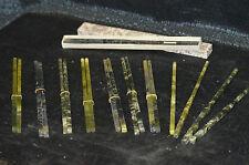 10 Paar Ess-Stäbchen, China, Jade, L:22cm