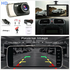 "HD 4"" 1080P WDR/LDWS Car DVR Dual Lens Camera Video Recorder Rearview Dash Cam"