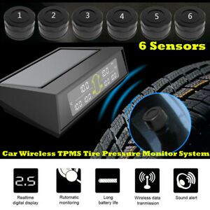 LCD TPMS Realtime Tyre Pressure Monitoring System Wireless External Sensors Kit