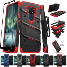 for Nokia C2 Tava, C5 Endi Bolt Armor Holster Kickstand Case Cover+PryTool