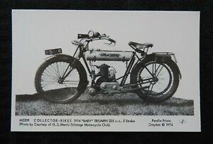"1914 ""BABY TRIUMPH"" MOTORCYCLE POSTCARD INDIAN HARLEY DAVIDSON THOR RPPC PAMLIN"