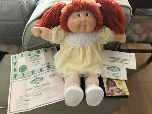 Vintage Cabbage patch doll with freckles and certificates