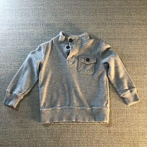 Crazy 8 Sweatshirt Kids XS 4 Solid Grey Long Sleeve Basic Stretch Casual Top