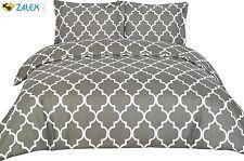 Queen Bedding Set Comforter 2 Pillow Shams 3 Piece Set Brushed Microfiber Grey