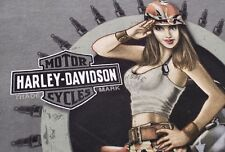 Biggs Harley Davidson San Marcos CA Drop Dead bullets sexy salutes mens rare  L