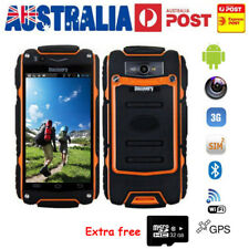 "3G Rugged Smartphone 4.0"" Orange Dual Core V8 Android WiFi Mobile Phone 32G Card"