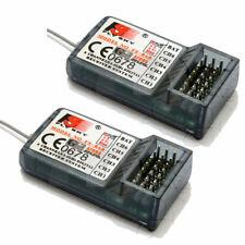 2X FlySky FS-R6B FS R6B 2.4G 6CH receiver For RC Transmitter FS T6 9ch TH9X TH9B