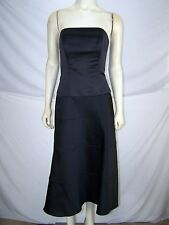 Eden Maids Bridesmaid Collection Black Lined Strapless Dress Womens Size 4 Small