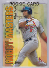ALBERT PUJOLS ROOKIE CARD Topps Hobby Masters St. Louis Cardinals 2001 INSERT RC