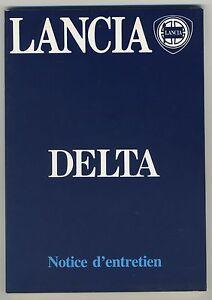 (39B) LANCIA DELTA  Notice d'entretien 1985