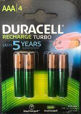 4 Stück Duracell Turbo AAA Akkus Akku 850 mAh HR03 Vorgeladen R3 Blister Micro