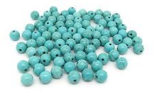 20 Perles 8mm Synthétique Pierre Turquoise creation bijoux, bracelet, collier