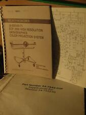 Electrohome ECP 2000 Data Graphics CRT Projector Original Service Manual rare