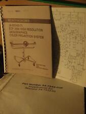 Electrohome ECP 2000 Data Graphics CRT Projector Original Service Manual rare