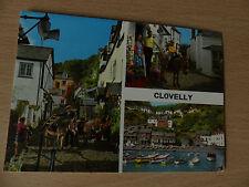 Postcard: Clovelly - Devon Multiview (John Hinde)