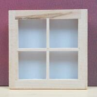 1/12 Scale Wood 4-Pane Window Dollhouse Miniature Fairy Garden Porch Deco SALE