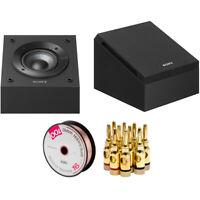 Sony Dolby Atmos Enabled Speakers Pair 2018 Model (SS-CSE) + Speaker Wire Bundle