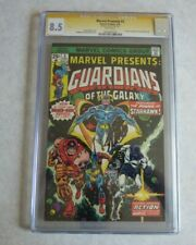 Marvel Presents #3 CGC 8.5 Signed by Stan Lee 1st Solo Guardians Book