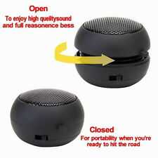 HOT Mini Portable Hamburger Travel Speaker For iPod iPhone Laptop PC MP3 BLK FT