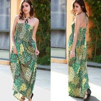 Women Maxi Summer BOHO Floral Beach Long Dress Ladies Evening Party Sundress