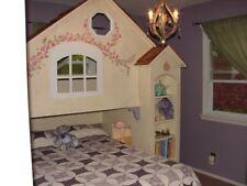 Custom built child's dollhouse loft bed
