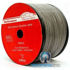 FOCAL PSW15 500 FEET PERFORMANCE 15 GAUGE HOME CAR AUDIO FLAT SPEAKER WIRE CABLE