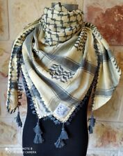 Shemagh Arab Hatta  Arafat Scarf Original Palestinian Keffiyeh 100% Cotton.