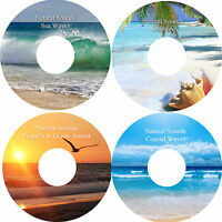 Natural Sounds 4 CD Relaxation Deep Sleep Stress Relief Healing Calming Nature