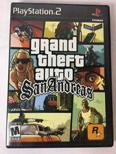 Grand Theft Auto San Andreas GTA (Sony PlayStation 2, PS2, 2004)CIB w/Poster/Map