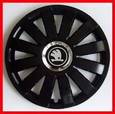 "4 x15"" Wheel trims fit Skoda Octavia Roomster Fabia Rapid - 15'' black"