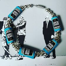 Unique HEINZ BAKED BEANS BRACELET handcrafted MIXED UP DOLLY british EX PAT fab