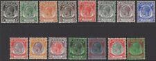MALAYA STRAITS SETTLEMENTS SG260/74 1936-7 DEFINITIVE SET MTD MINT