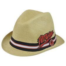 Affliction  Paper Straw Diamond Top Brand Small Medium Hat Pimp Trilby Gangster