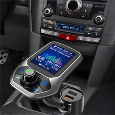 "1.8"" LCD FM Transmitter KFZ Auto Radio Adapter 2 USB Ladegerät Handfree Car Kit"