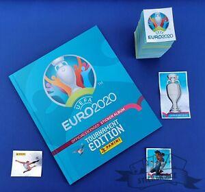 PANINI, Euro 2020 Tourn. Ed., complete loose sticker set + empty HARDCOVER album