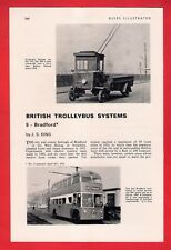 Buses Magazine Extract ~ Bradford Corporation Trolleybuses: History 1911 to 1967