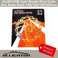 Alligator Windcutter Mountainbike Bremsscheibe 180mm Gold Ti Ni Überzug