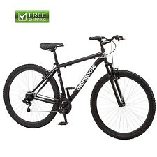 "Mongoose Mountain Bike 29"" Men's Black Front Suspension Sport Bicycle Shimano"