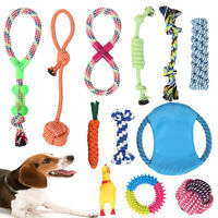 12x Dog Rope Toys Nolsen Pet Puppy Gift Durable Cotton Clean Teeth Chew Toy