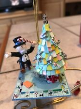 ENESCO CHRISTMAS ORNAMENT: MERRY MONOPOLY MONEYBAGS WITH MONEY TREE NEW IN BOX