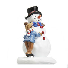 HOLIDAY TIME CHRISTMAS VILLAGE HOUSE ACCESSORIES - SNOWMAN FRIEND FIGURE #2LOP