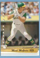 1992 UPPER DECK HOMERUN HEROES #HR2 MARK MCGWIRE Oakland Athletics Combined Ship
