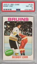 "1975 O-PEE-CHEE BOBBY ORR #100 PSA Graded 8 NM-MT Cond ""HI-END PACK FRESH"""
