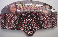 Red and Black Combo Color Paisley Chop Top Bandanna Headwrap Sweatband Headband