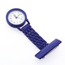 Dark Blue Quartz Movement Nurse Brooch Fob Tunic Pocket Metal Watch [Watch] F3X9