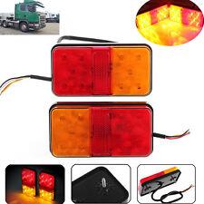 2x Heckleuchten Rückleuchten LED Set Universal Anhänger Baumaschinen Traktor 12V