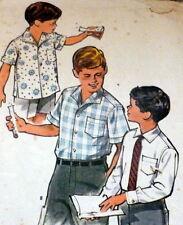 *LOVELY VTG 1960s BOYS SHIRT Sewing Pattern 8